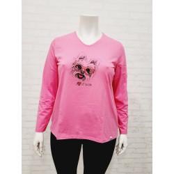 """camiseta """" I my yorkie"""" rosa"""